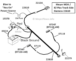 wiring diagram for meyers snow plow pump wiring diagram meyer plow help com meyer plow wiring identification information