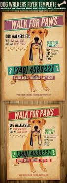 dog walkers flyer template flyerstemplates