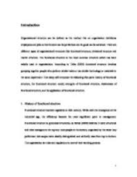organizational structure  this essay will introduce the following    page  zoom in