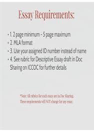 descriptive writing on emaze assignment