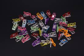 40pcs Plastic Clips Multicolor <b>Sewing</b> Clip Hemming <b>Patchwork</b> Clip ...