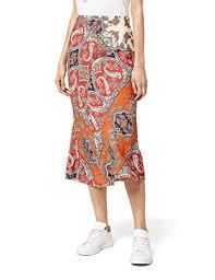 Amazon Brand - find. <b>Women's Printed Summer</b> Midi Skirt: Amazon ...