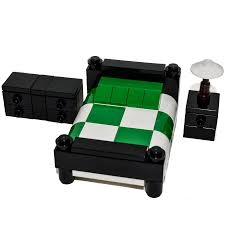 Lego Furniture Lego Furniture Bed Black W Green White Set W Parts