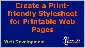 Create a Print-friendly Stylesheet for Printable Web Pages - YouTube