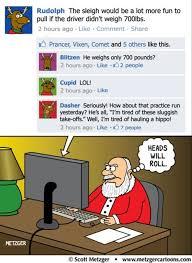 Damned Reindeer. Reindeer Santa Comic Facebook Meme   Funny ... via Relatably.com