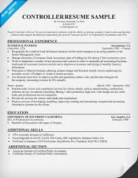 controller resume examples  corporate controller resume sample    achievement resume samples controller