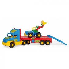 Игрушечная машинка <b>Wader</b> Тягач эвакуатор <b>Super Truck</b> (36520 ...