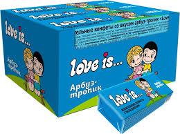 <b>Love is</b> Арбуз-тропик жевательные <b>конфеты</b>, 12 шт — купить в ...