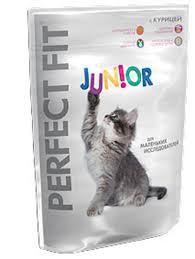 Сухой <b>корм для котят</b> Perfect Fit Junior с курицей 750г купить с ...