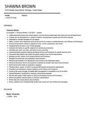 Technical Writer Resume Sample   Velvet Jobs Velvetjobs