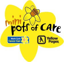 Today we all planted a daffodil as part of the Marie Curie Mini Pots of Care Project. - Daffodil