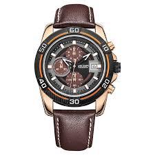Megir Brand <b>Men Business</b> Leather Strap <b>Chronograph Quartz</b> ...