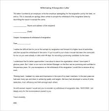 withdrawing a resignation letter sample word doc download resignations letters samples