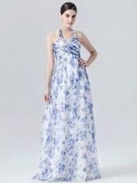 Halter <b>Dress</b> in Sapphire Garden Print; Color: Sapphire Garden ...