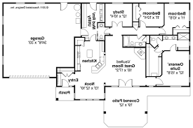 Ranch House Plans   Elk Lake     Associated Designs    Ranch House Plan   Elk Lake     Floor plan