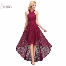 <b>Burgundy</b> Navy <b>Lace</b> Long <b>Bridesmaid</b> Dresses 2019 High Low ...