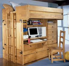 attractive wooden wall mounted bunk built in study furniture