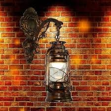 <b>Vintage</b> LED Wall Lamp <b>Lantern Retro</b> Wall Kerosene European ...
