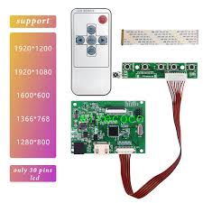 2019 <b>HDMI EDP Lcd</b> Controller <b>30pin</b> Board Universal Support ...