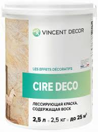 Лессирующая <b>Краска</b> Полупрозрачная <b>Vincent</b> Decor Cire Deco ...