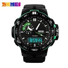 SKMEI 1081 50M <b>Waterproof</b> Multifunction Sport Watch - Green ...