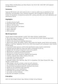 professional mill worker templates to showcase your talent    resume templates  mill worker