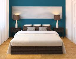 Paint Schemes For Living Room With Dark Furniture Bedroom Blue White Wall Room Combined With Dark Brown Wooden Bed