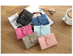 Fashion Women Short Purses <b>Vintage PU Leather Lady</b> Snap ...