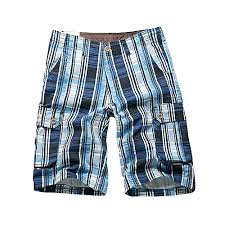 Fashion Men's Fashion Plaid Multi-pocket <b>Shorts</b> Summer ...
