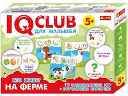 <b>Пазл Ranok Creative IQ</b> Club Кто живет на ферме 13152038Р