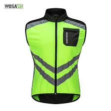 wosawe driving reflective clothing long sleeve windproof high visibility motocross riding off road safety jacket windbreaker