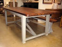 Industrial Style Kitchen Table Reclaimed Wood And Metal Dining Table Reclaimed Industrial Chic