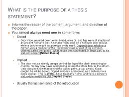 purpose of thesis statement in an essay  wwwgxartorg what a thesis statement is and what it isn t
