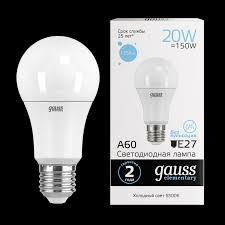 <b>Лампа Gauss LED</b> Elementary A60 20W E27 6500K - <b>Gauss</b> ...