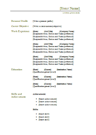 traditional cv template free traditional resume templates