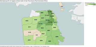 how much airbnb hosts earn after rent in san francisco in 1 map airbnb insane sf