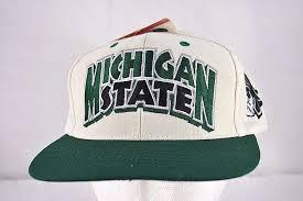 Michigan State Spartans White/Green Baseball Cap Snapback ...