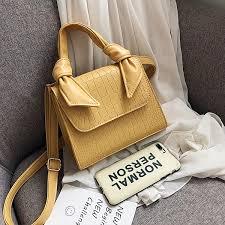 Buy DiDing <b>Women's</b> Handbag <b>Stone Pattern</b> Solid Color Elegant ...