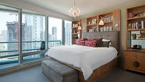view in gallery above bed lighting