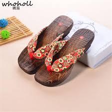 <b>WHOHOLL</b> Geta <b>Summer</b> Sandals Women Wedges Flip flops ...
