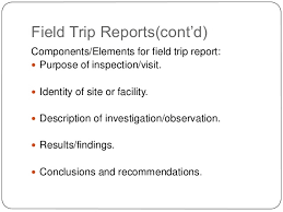 Types of technical reports Field Trip
