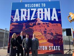 "Governor Ducey Unveils <b>New</b> ""<b>Welcome To</b> Arizona"" Highway Signs ..."
