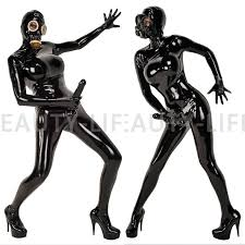 Image result for full latex mens fetish outfit with breasts