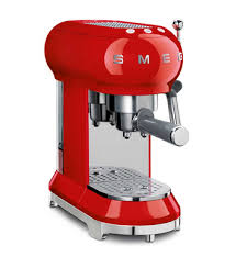 Smeg ECF01RDAU Red 50s <b>Retro Style</b> Espresso <b>Coffee</b> Machine ...