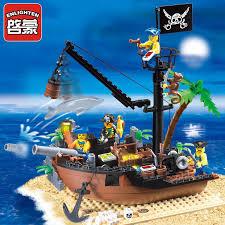 <b>Enlighten</b> 206Pcs SKELETON WATER VILLAGE <b>Pirate</b> Boat City ...