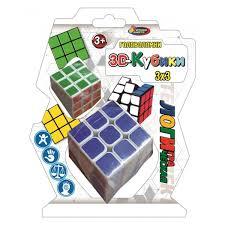 """Логическая игра <b>кубик</b> (2шт) в пласт. 21*16,5*8см ТМ """"<b>ИГРАЕМ</b> ..."""