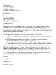 Sample Nurse Cover Letter  school nurse cover letter example     Resume Badak