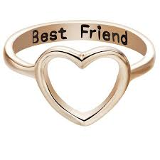 <b>Fashion Best Friends</b> Rings Jewelry Ring Simple Hollow Heart Ring ...