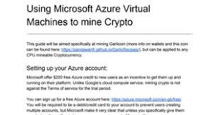 How to mine Garlicoin using Microsoft