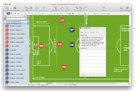 create soccer position diagram   conceptdraw helpdesksoccer field and positions diagram role description